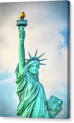 Canvas Print featuring the photograph Torch Of Liberty by Nick Zelinsky