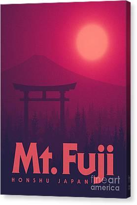 Torii Gate Japan - Magenta Canvas Print by Ivan Krpan