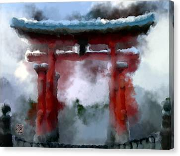 Torii Canvas Print by Geoffrey C Lewis