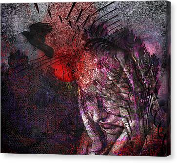 Torment Canvas Print by Mimulux patricia no No