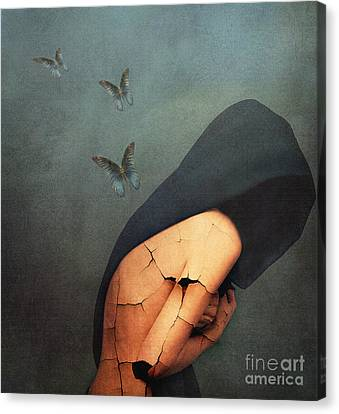 Woman Canvas Print - Torment by Jacky Gerritsen
