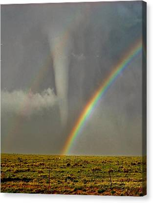 Canvas Print featuring the photograph Tornado And The Rainbow II  by Ed Sweeney