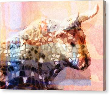 Toro Colorful Canvas Print by Lutz Baar