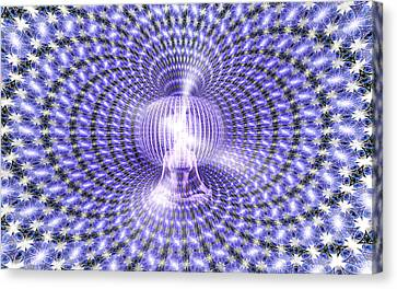 Canvas Print featuring the painting Toroidal Hologram by Robby Donaghey