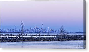 Port Credit Canvas Print - Toronto At Dusk by Phill Doherty