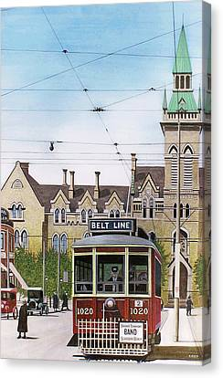 Canvas Print featuring the painting Toronto Belt Line by Kenneth M Kirsch