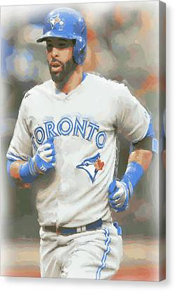 Toronto Blue Jays Jose Bautista Canvas Print by Joe Hamilton
