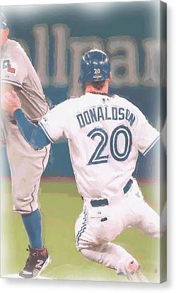 Toronto Blue Jays Josh Donaldson 3 Canvas Print by Joe Hamilton