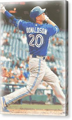 Toronto Blue Jays Josh Donaldson Canvas Print by Joe Hamilton