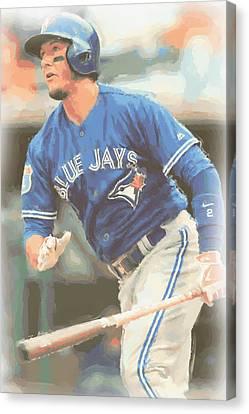 Toronto Blue Jays Troy Tulowitzki Canvas Print by Joe Hamilton