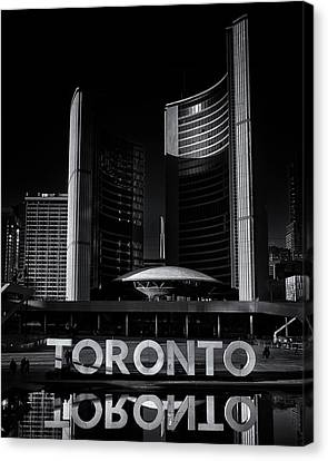 Canvas Print featuring the photograph Toronto City Hall No 1 by Brian Carson