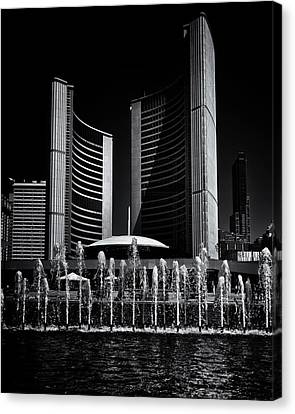 Canvas Print featuring the photograph Toronto City Hall No 25 by Brian Carson