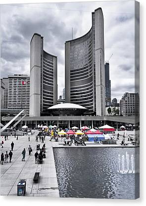 Canvas Print featuring the photograph Toronto City Hall No 3 by Brian Carson