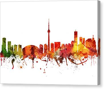 Toronto Cityscape 04 Canvas Print by Aged Pixel
