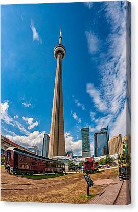 Toronto Cn Tower 3 Canvas Print by Steve Harrington