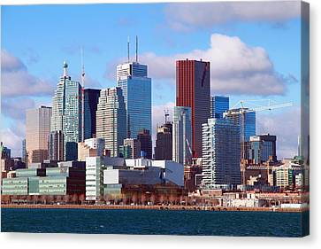 Canvas Print featuring the photograph Toronto Core by Valentino Visentini
