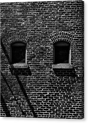 Canvas Print featuring the photograph Toronto Distillery District Windows No 1 by Brian Carson