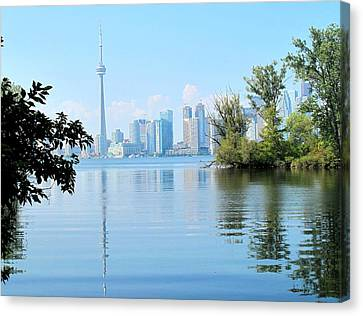 Toronto From The Islands Park Canvas Print
