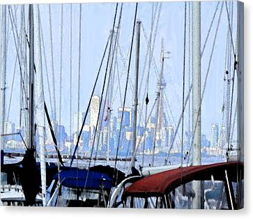 Port Credit Canvas Print - Toronto Impressions From Port Credit by Ian  MacDonald