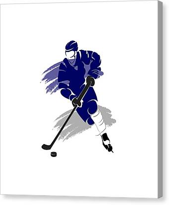 Skates Canvas Print - Toronto Maple Leafs Player Shirt by Joe Hamilton