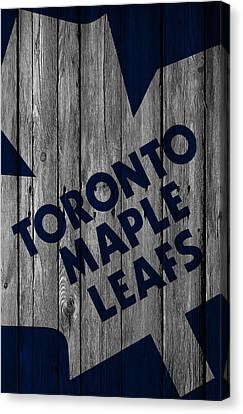 Toronto Maple Leafs Wood Fence Canvas Print by Joe Hamilton