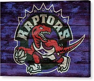 Toronto Raptors Barn Door Canvas Print by Dan Sproul