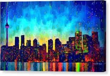 Toronto Skyline 10 - Pa Canvas Print