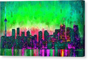 Toronto Skyline 14 - Pa Canvas Print by Leonardo Digenio