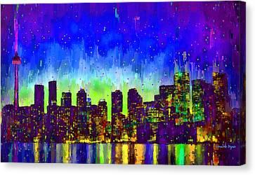 Toronto Skyline 15 - Pa Canvas Print by Leonardo Digenio