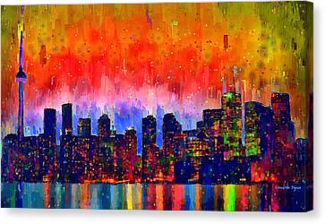 Toronto Skyline 18 - Pa Canvas Print by Leonardo Digenio