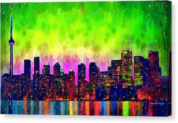 Toronto Skyline 22 - Pa Canvas Print