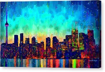 Toronto Skyline 23 - Pa Canvas Print by Leonardo Digenio