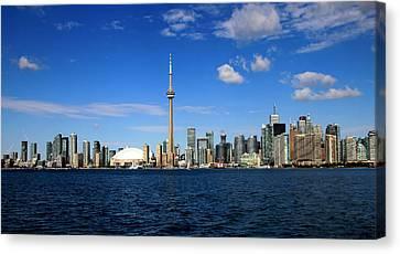 Toronto Skyline 26 Canvas Print by Andrew Fare
