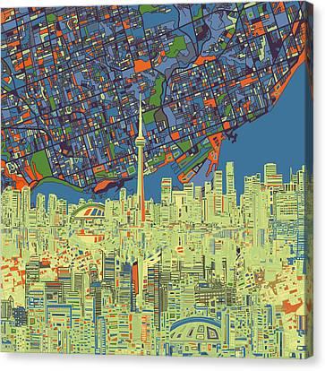 Toronto Skyline Abstract 2 Canvas Print