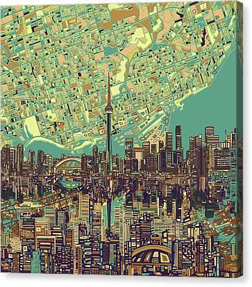 Toronto Skyline Abstract 7 Canvas Print