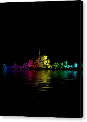 Toronto Skyline Gradient Flood Canvas Print