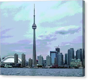 Toronto Skyline Posterized Canvas Print