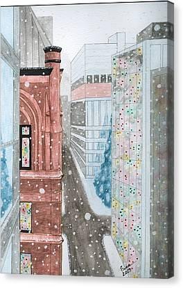 Toronto Street Scene Canvas Print by Fran Hoffpauir