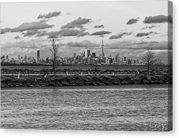 Port Credit Canvas Print - Toronto Waterfront by Phill Doherty