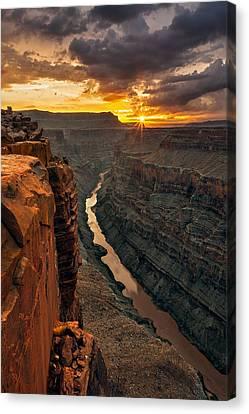 Colorado Plateau Canvas Print - Toroweap Sunrise by Guy Schmickle