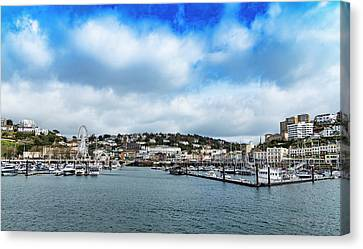 Canvas Print featuring the photograph Torquay Devon by Scott Carruthers