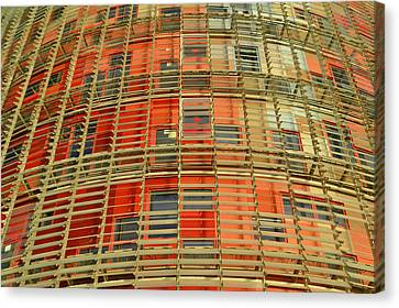 Canvas Print featuring the photograph Torre Agbar Modern Facade by Marek Stepan