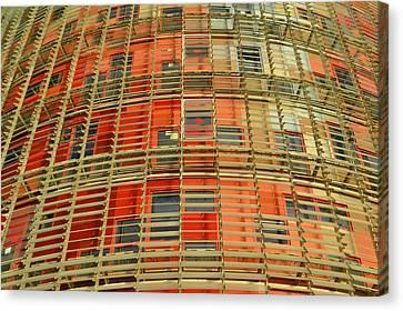 Torre Agbar Modern Facade Canvas Print