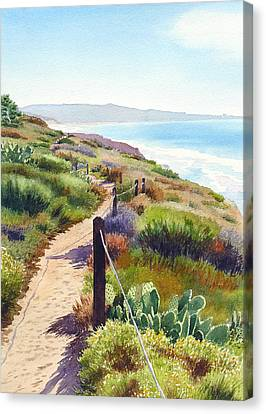 Torrey Pines Guy Fleming Trail Canvas Print by Mary Helmreich
