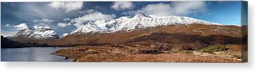 Canvas Print featuring the photograph Torridon Panorama by Grant Glendinning