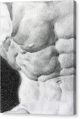 Canvas Print featuring the drawing Torso 1b by Valeriy Mavlo