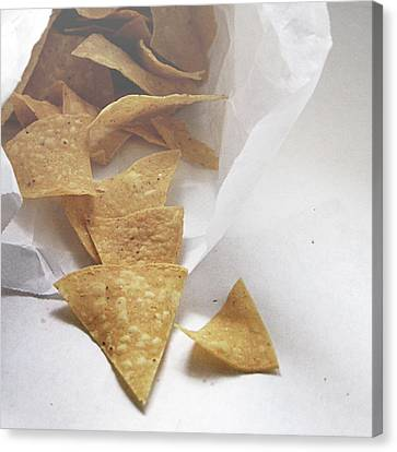 Chip Canvas Print - Tortilla Chips- Photo By Linda Woods by Linda Woods