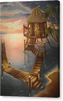 Tortugan Riviera Canvas Print by Amanda Clark