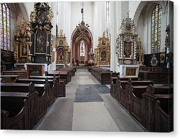 Medieval Temple Canvas Print - Torun Cathedral Interior In Poland, by Artur Bogacki