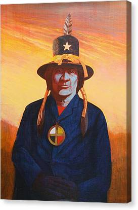 Tosh-a-wah,peneteka Comanche Chief Canvas Print by J W Kelly